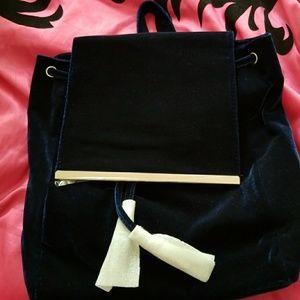 Velvet book bag purse